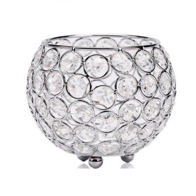 Round Crystal Centerpiece Silver picture 1