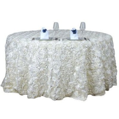 """Rosette 132"""" Round Tablecloth picture 1"""