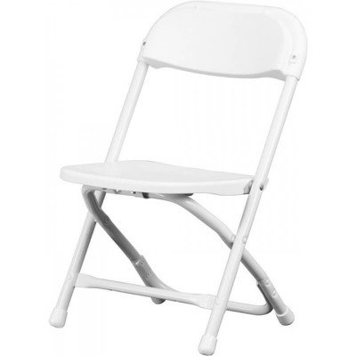 Kids White Plastic Folding Chair picture 1