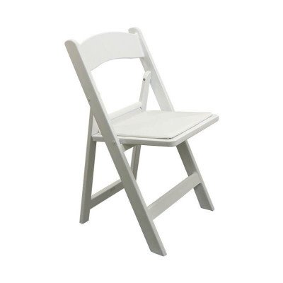 White Resin Padded Folding Chairs picture 1