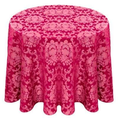 """Damask Tablecloth 132"""" Round picture 1"""