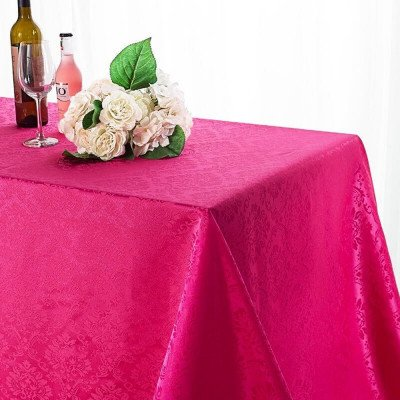 """Damask Tablecloth 90""""x132"""" Rectangular picture 1"""