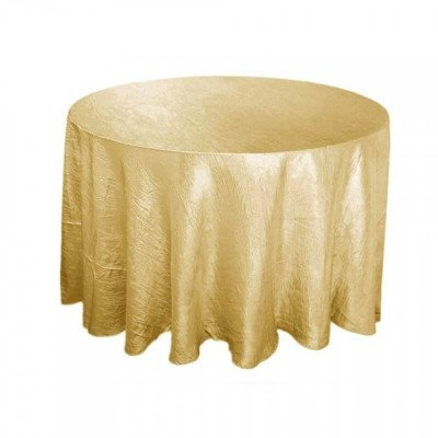 """Crushed Tafetta Tablecloth 108"""" Round picture 1"""