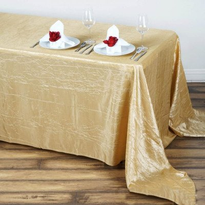 """Crushed Tafetta Tablecloth 90""""x156"""" Rectangular picture 1"""