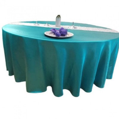 """Satin Round Tablecloth 90"""" Round Tablecloth picture 1"""