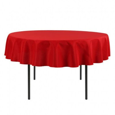 """Round Polyester Tablecloth 90"""" Round picture 1"""