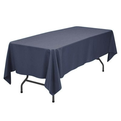 """Rectangular Polyester Tablecloth 90""""x132"""" picture 1"""