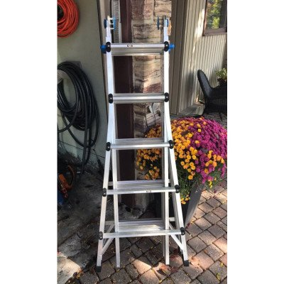 mastercraft 21' ladder, scaffold
