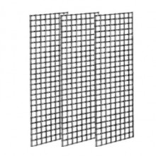 Grid display black metal