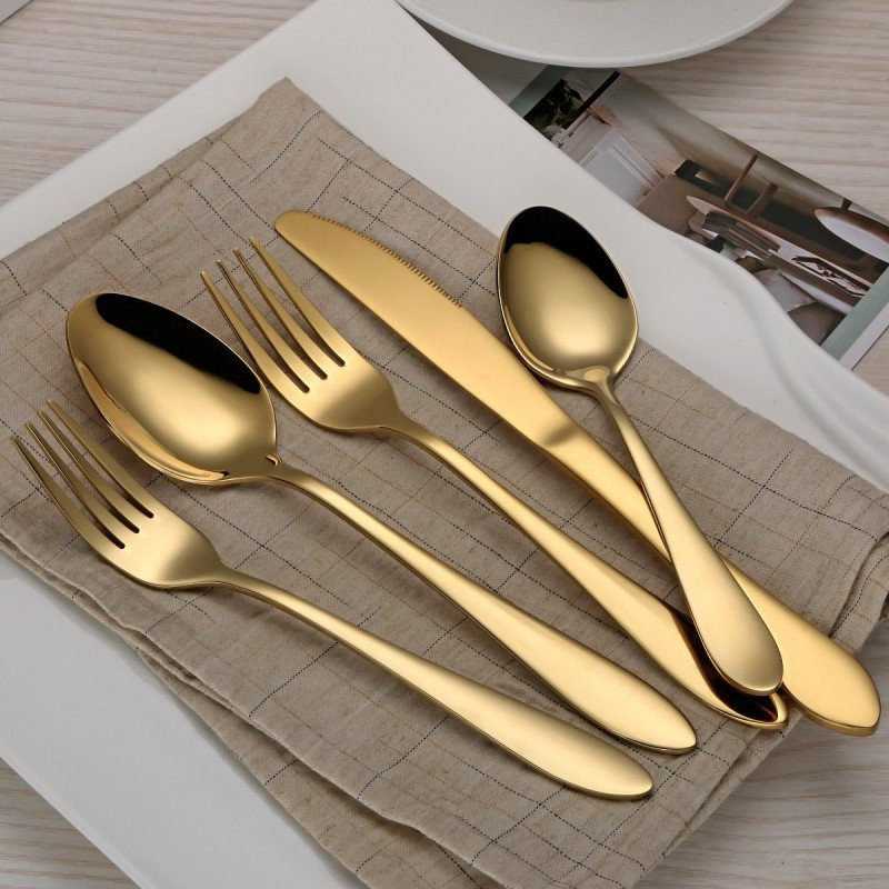 gold flatware set-1