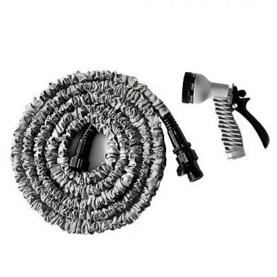 expanding garden hose with nozzle