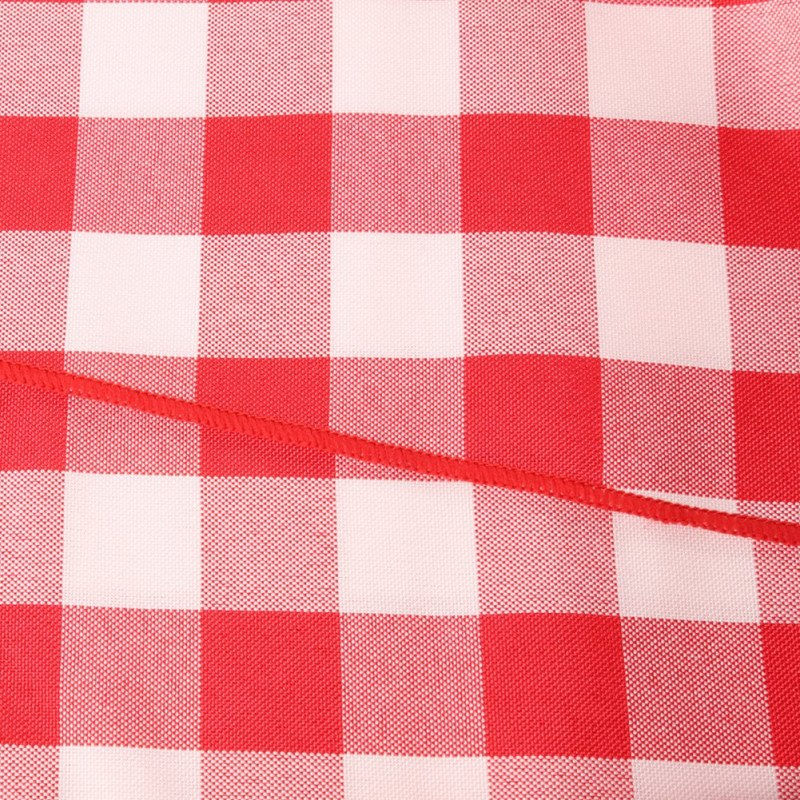 circular tablecloth - red and white checker-1