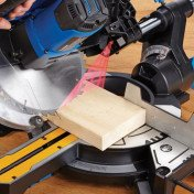 sliding compound miter saw with laser
