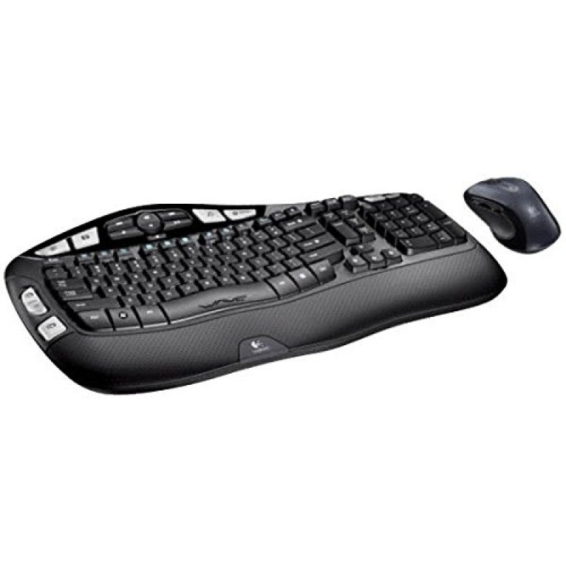 wireless wave keyboard and mouse combo-1