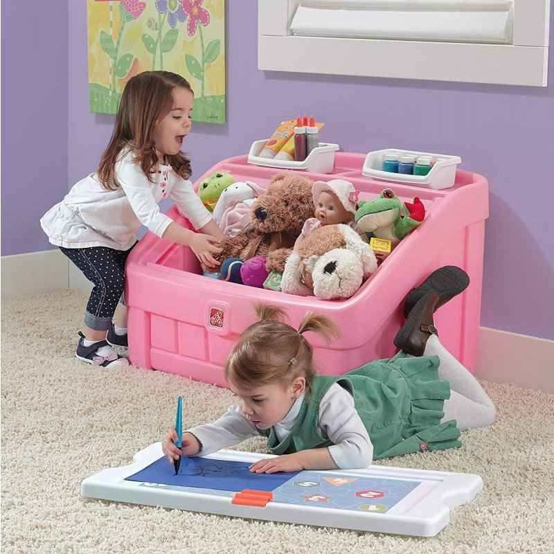 step 2 toy box and art lid-4