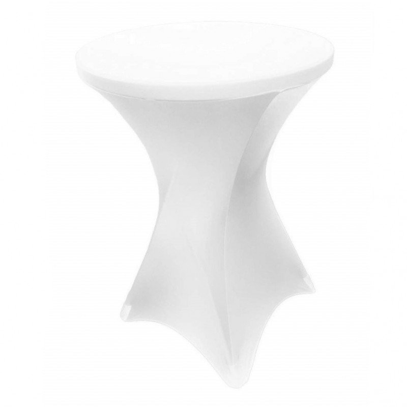 spandex cocktail table cover - white