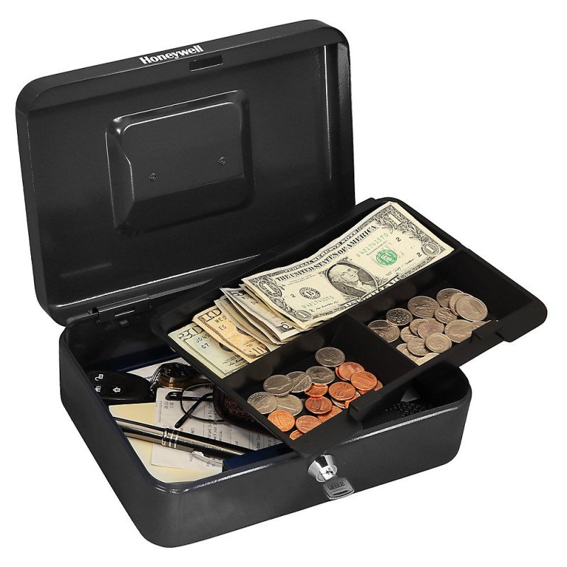 small steel cash box-1
