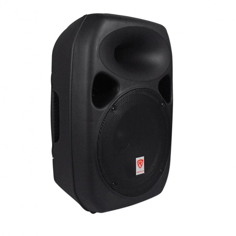 powered speakers with stands and cables-1