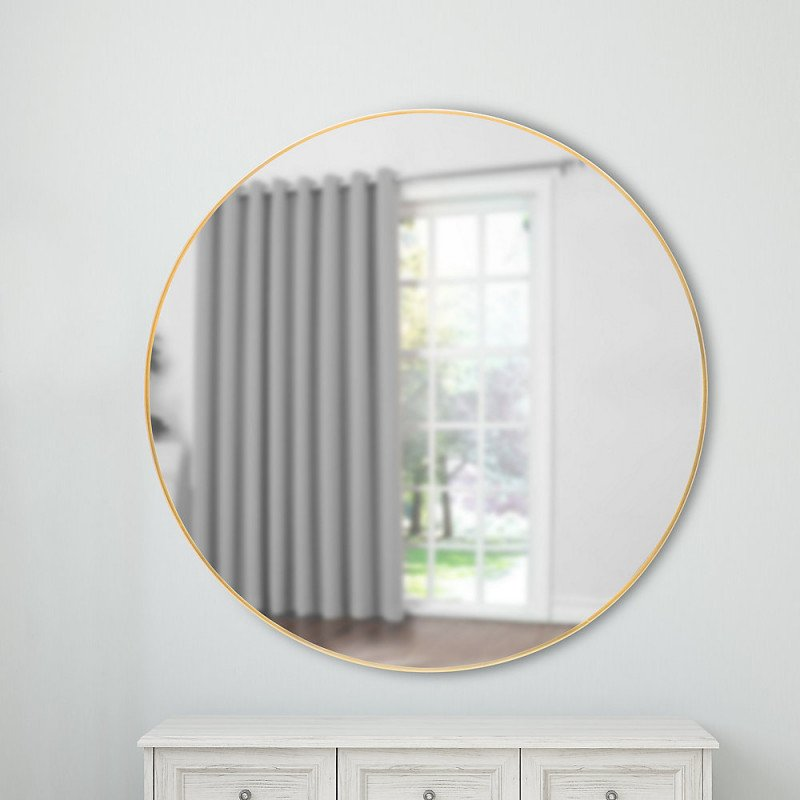 infinity round 28-inch wall-mounted mirror