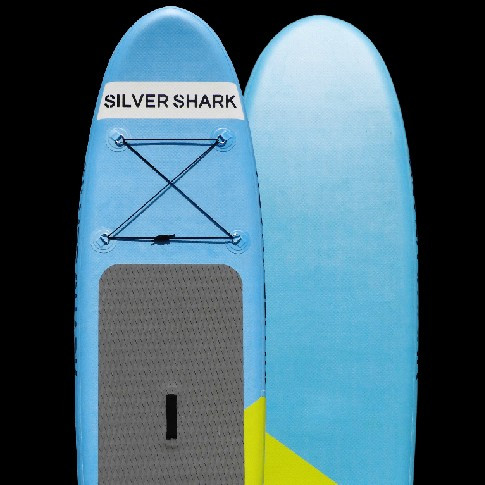 inflatable stand up paddle board - silver shark-7