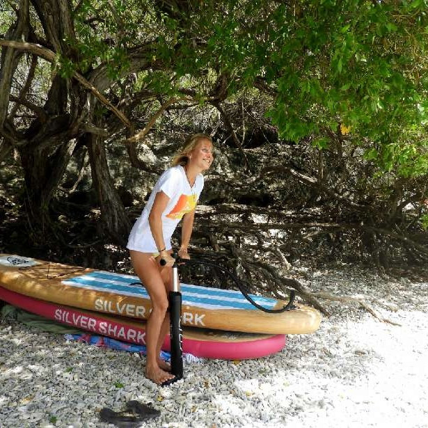 Inflatable stand up paddle board - Silver Shark