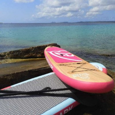 inflatable stand up paddle board - silver shark-3