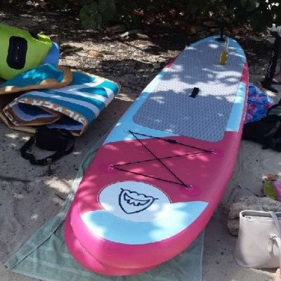inflatable stand up paddle board - silver shark-6