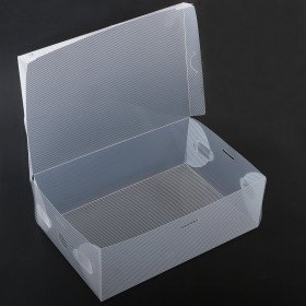 smart storage foldable clear shoe box