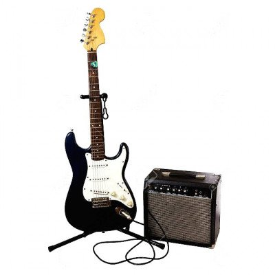 Electric Guitar with Amp, Cable, Case, Stand, Tuner picture 1