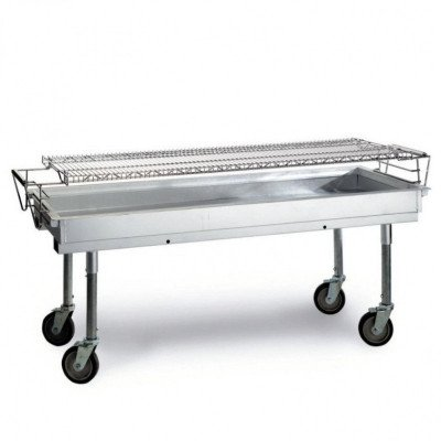 commercial 5' charcoal bbq grill
