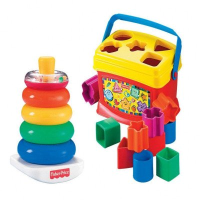 Fisher-Price Baby's First Blocks and Rock Stack Bundle picture 1