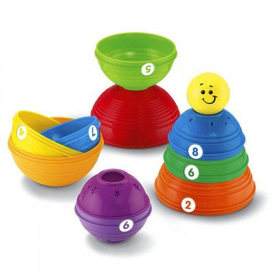 Fisher-Price Brilliant Basics Stack & Roll Cups picture 2