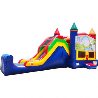 Rainbow Unicorn Super Combo Inflatable 5-in-1 picture 1
