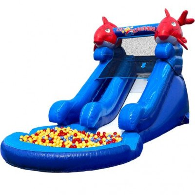 Lil Kahuna Dry Inflatable Slide with Ball Pit picture 1
