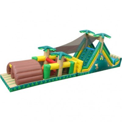 40' Backyard Rush Inflatable Obstacle Course picture 1