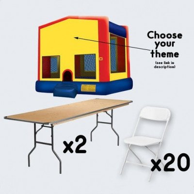 Bounce House with 2 Tables and 20 Chairs - adult picture 1