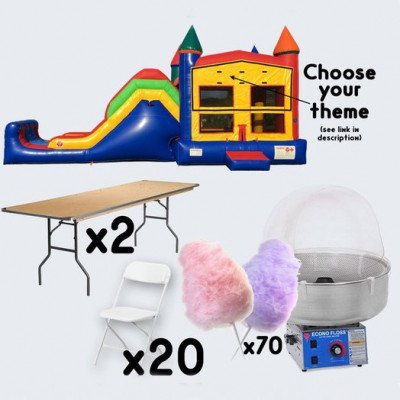 Super Combo Inflatable and Cotton Candy with 2 Tables and 20 Chairs - adult picture 1