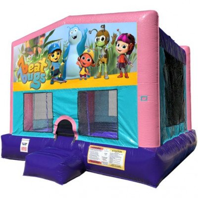 Beat Bugs Inflatable Bouncer - Sparkly Pink Edition picture 1