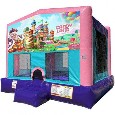 Candy Land Inflatable Bouncer - Sparkly Pink Edition picture 1