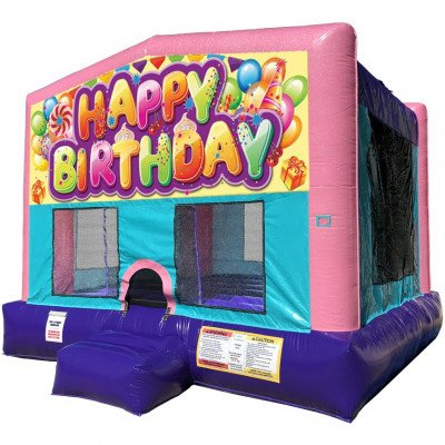 Birthday Inflatable Bouncer - Sparkly Pink Edition picture 1