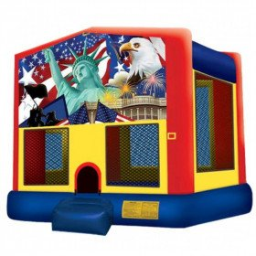 Patriotic Inflatable Bouncer