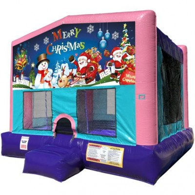 Christmas Inflatable Bouncer - Sparkly Pink Edition picture 1