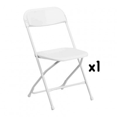 1 - White Folding Chair picture 1