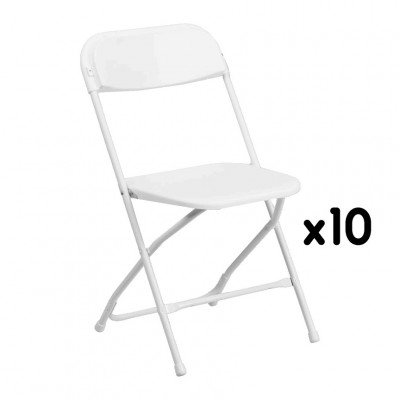 10 - White Folding Chairs picture 1