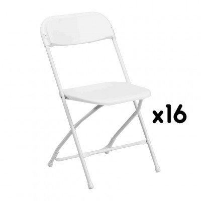 16 White Folding Chairs picture 1