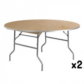 2 - 60 Inch Round Tables