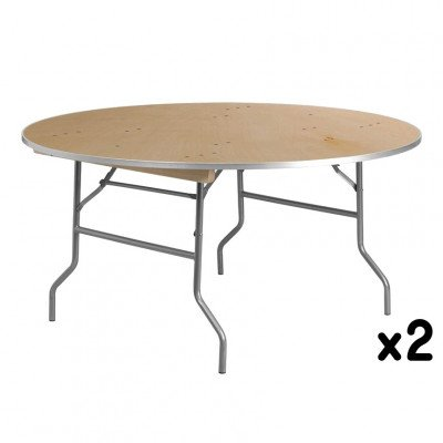 2 - 60 Inch Round Tables picture 1