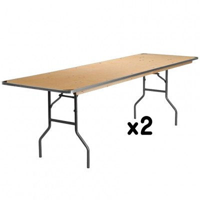 2 - 8 Foot Rectangular Tables picture 1