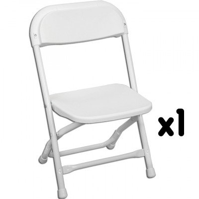 Kids White Folding Chair picture 1
