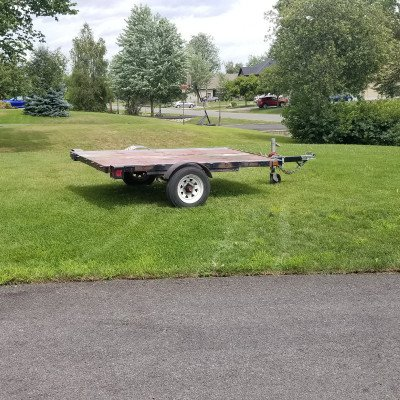 Utility flat deck trailer - 4' x 8' picture 3